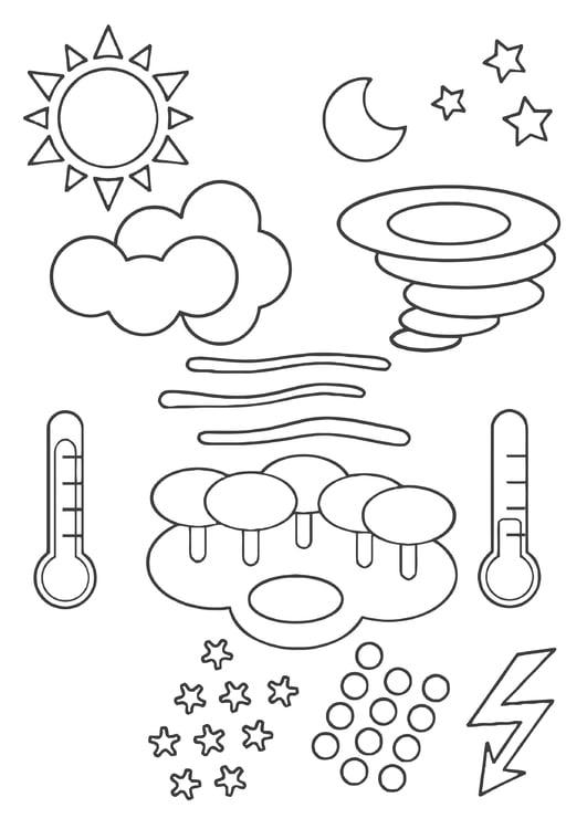 malvorlage wettersymbole  ausmalbild 22443