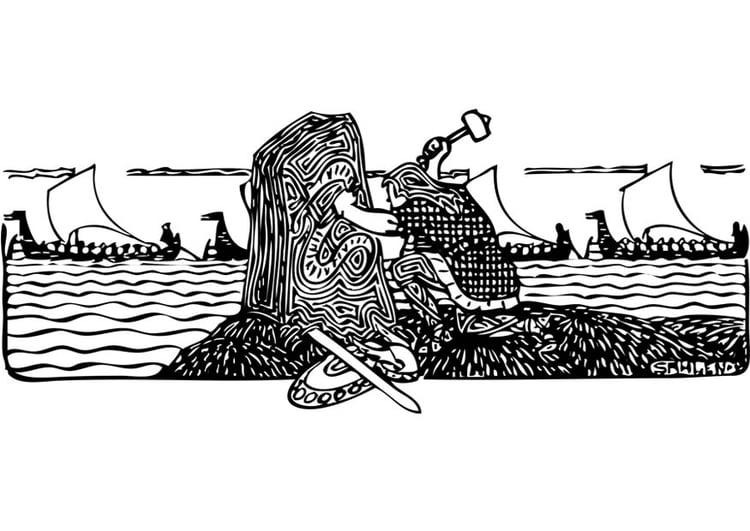 malvorlage wikinger  kostenlose ausmalbilder zum