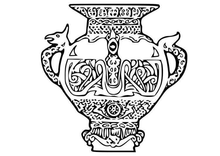 malvorlage wikinger vase  kostenlose ausmalbilder zum
