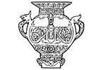 Malvorlage  Wikinger Vase