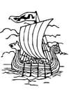 Malvorlage  Wikingerschiff