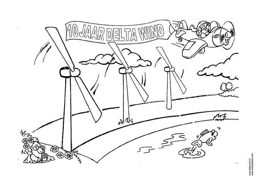 malvorlage windenergie