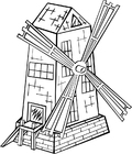 Malvorlage  Windmühle