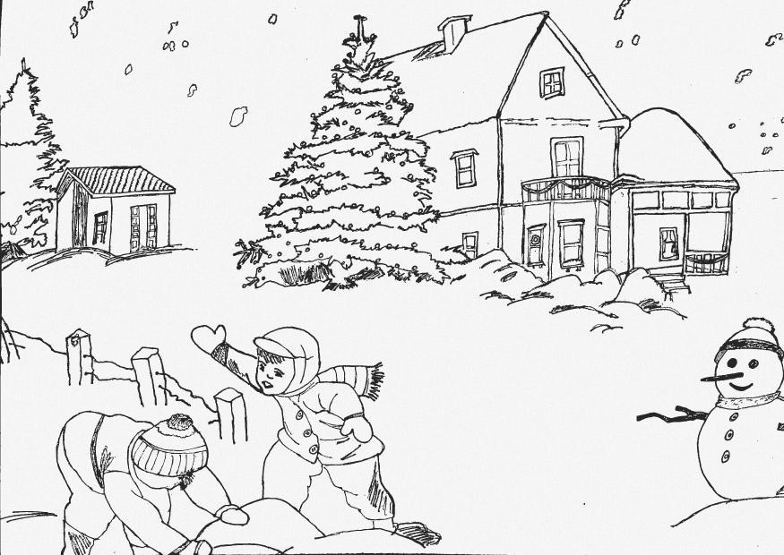 malvorlage winter  kostenlose ausmalbilder zum ausdrucken