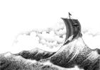 Malvorlage  Wkingerschiff