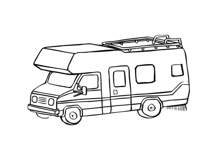 Malvorlage Wohnwagen   Ausmalbild 9660.