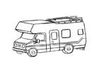 Malvorlage  Wohnwagen