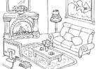 Malvorlage  Wohnzimmer