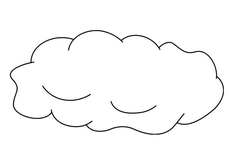 Malvorlage Wolke | Ausmalbild 19256.
