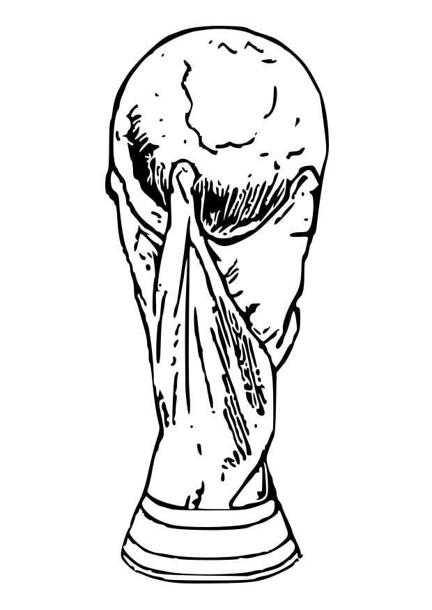 Malvorlage World Cup Pokal Ausmalbild 28739