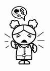 Malvorlage  wütend