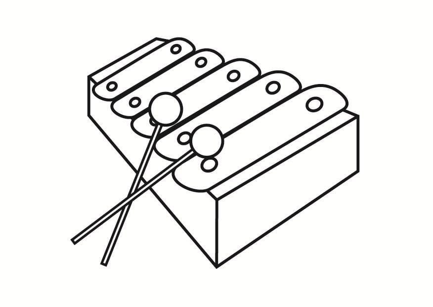 instrumente zum ausmalen  vorlagen zum ausmalen gratis