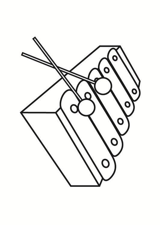 Malvorlage Xylophon Ausmalbild 23334