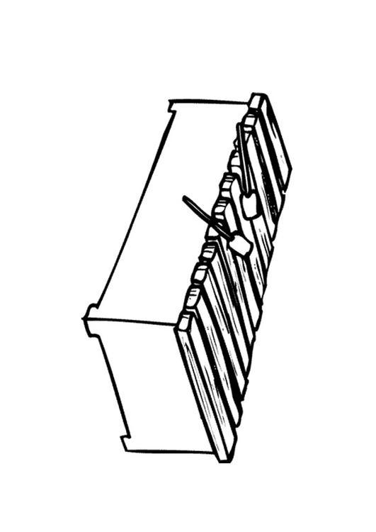 Malvorlage Xylophon Ausmalbild 9596