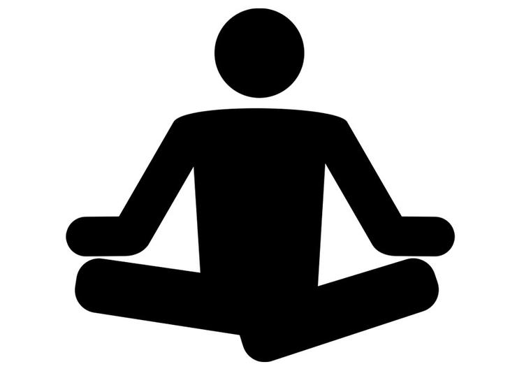 Malvorlage Yoga Ausmalbild 26413