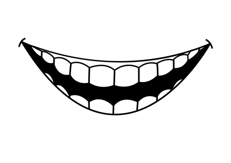 Malvorlage Zähne | Ausmalbild 26941.