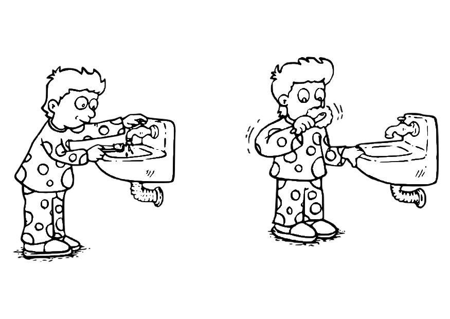 malvorlage zähne putzen  kostenlose ausmalbilder zum