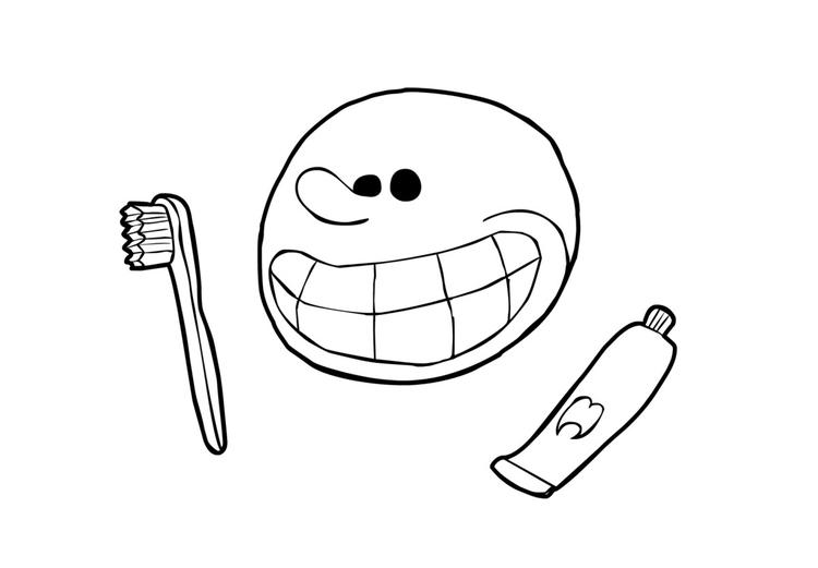Malvorlage Zähne putzen | Ausmalbild 21187.
