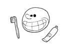 Malvorlage  Zähne putzen