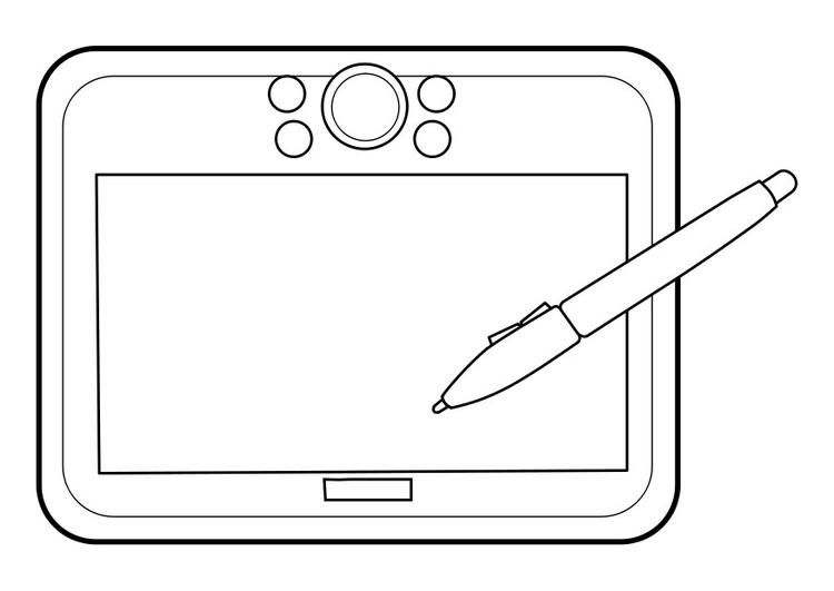 Bildergebnis für ausmalbild tablet