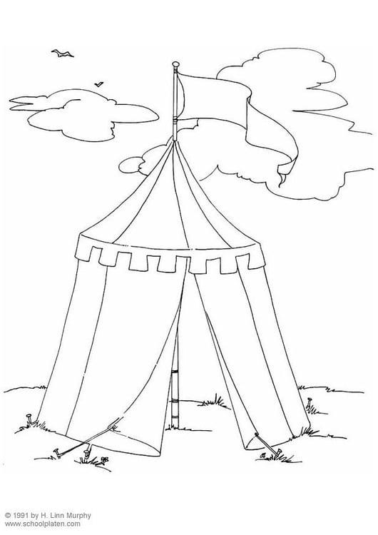 Zelt Zum Ausmalen : Malvorlage zelt ausmalbild