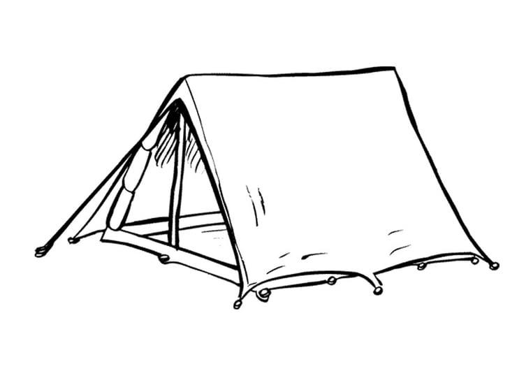 Zelt Zum Sitzen : Malvorlage zelt ausmalbild