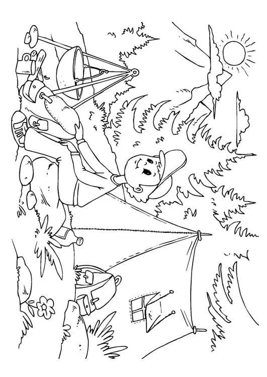 Zelt Zum Ausmalen : Malvorlage zelten ausmalbild
