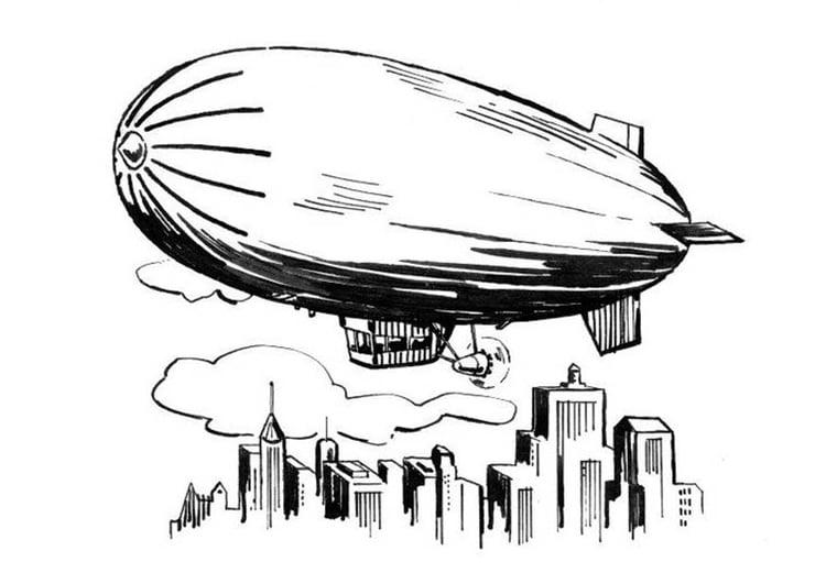 Malvorlage Zeppelin Ausmalbild 18887