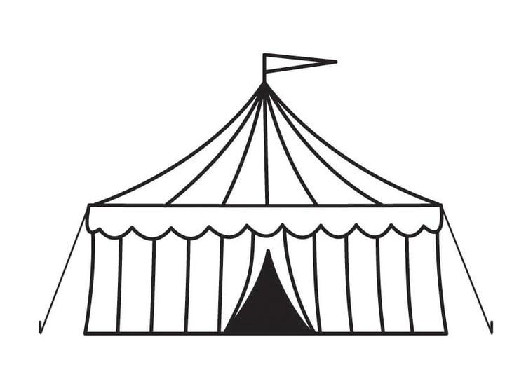 Malvorlage Zirkuszelt Kostenlose Ausmalbilder Zum Ausdrucken