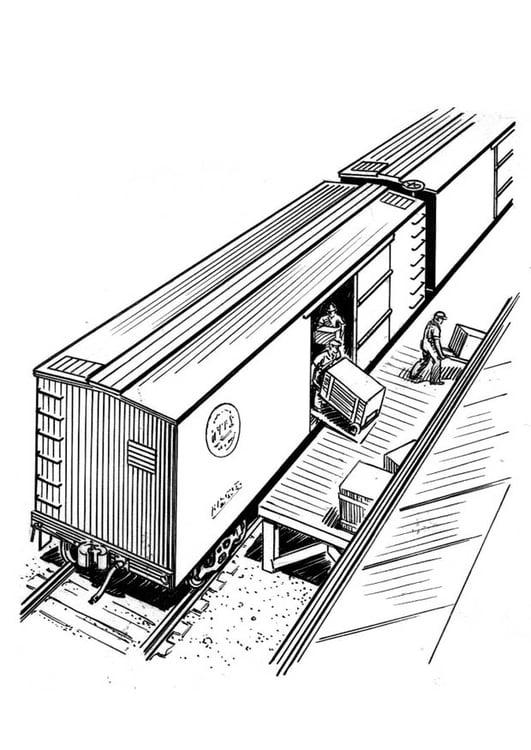 Malvorlage Zug Entladen Ausmalbild 18941