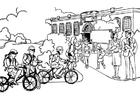 Malvorlage  zur Schule - Grundschule