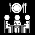 Malvorlage  zusammen essen