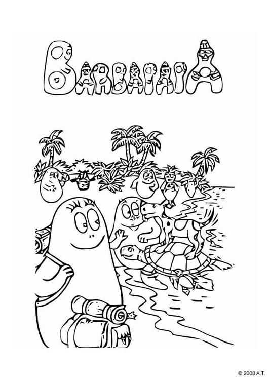 Urlaub malvorlage  Malvorlage Zusammen im Urlaub | Ausmalbild 10578.