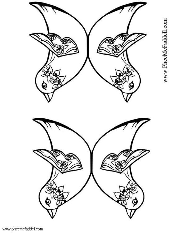 malvorlage zwei vögel  ausmalbild 6122