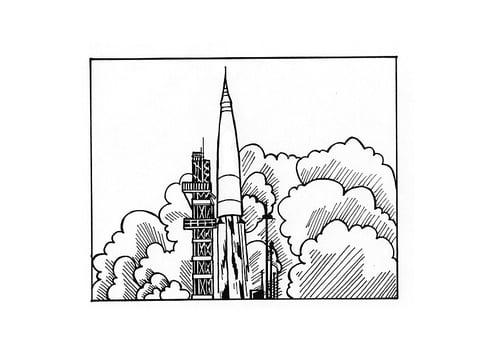 gak ngiro rame foto aufsteigende rakete